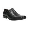 Skórzane loafersy męskie bata, czarny, 814-6623 - 13