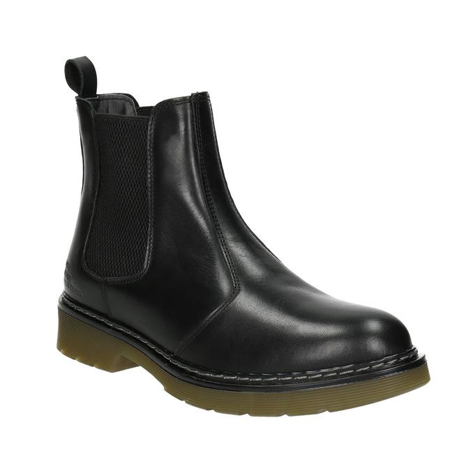 Skórzane obuwie damskie typu chelsea bata, czarny, 594-6680 - 13