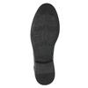 Skórzane buty za kostkę, zfakturą bata, szary, 826-2616 - 19