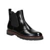 Skórzane buty damskie typu chelsea bata, czarny, 596-6657 - 13