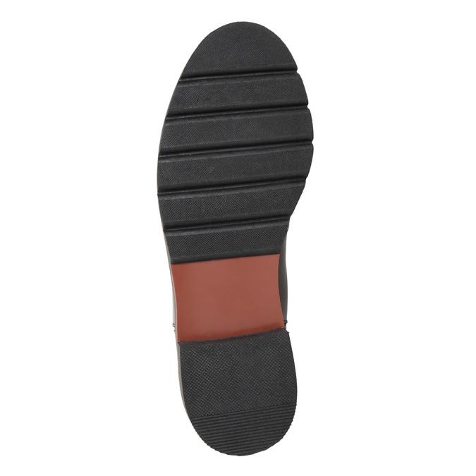 Bordowe botki typu chelsea ze skóry bata, czerwony, 596-5657 - 17