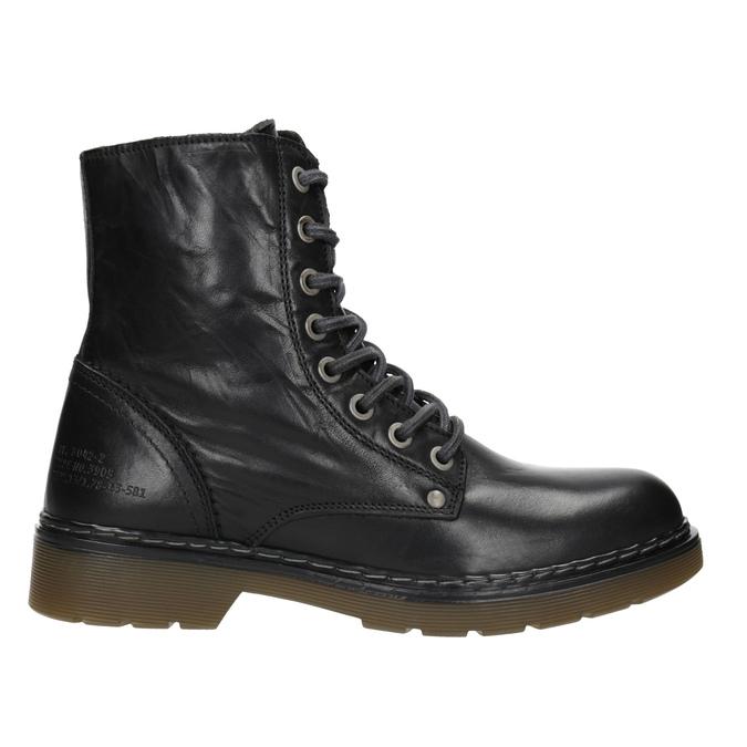 Skórzane botki damskie bata, czarny, 594-6681 - 26