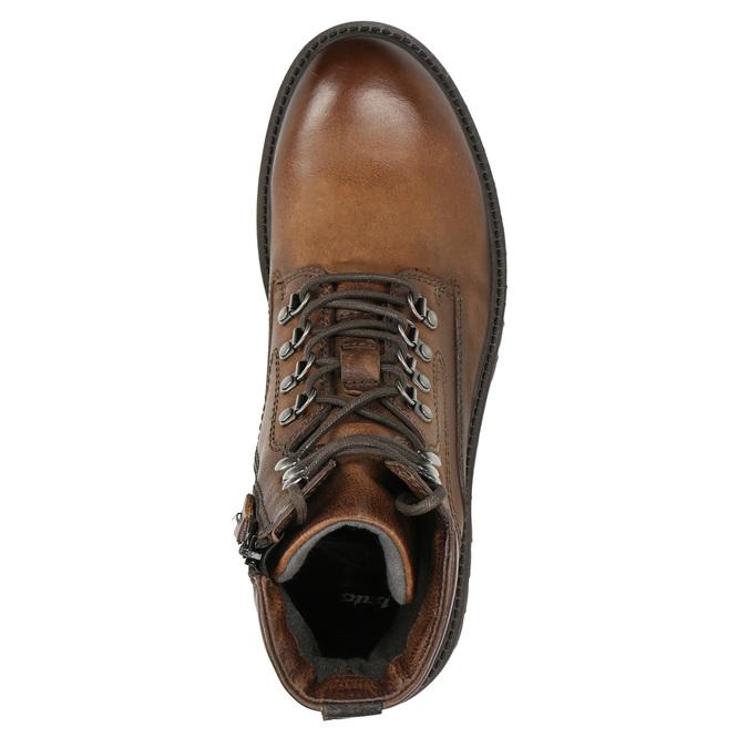 Skórzane obuwie za kostkę bata, brązowy, 896-3663 - 26