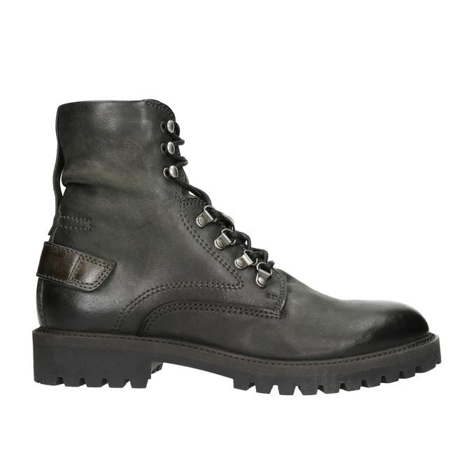 Skórzane obuwie za kostkę bata, szary, 896-2663 - 15