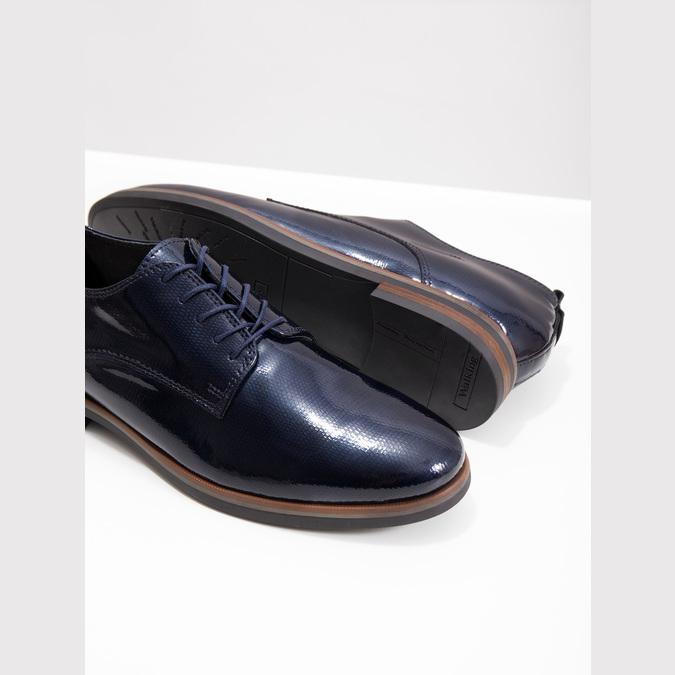 Skórzane półbuty damskie bata, niebieski, 528-9600 - 18