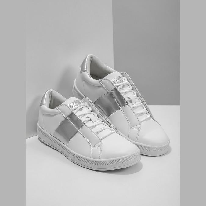 Damskie białe trampki, biały, 501-1171 - 18