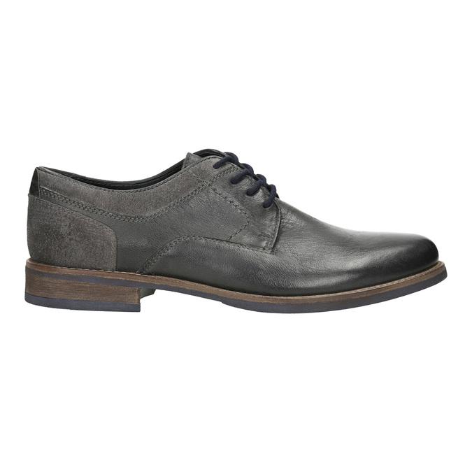 Nieformalne półbuty męskie bata, szary, 826-2610 - 15