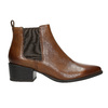 Skórzane buty damskie typu chelsea na obcasach vagabond, brązowy, 614-4020 - 15