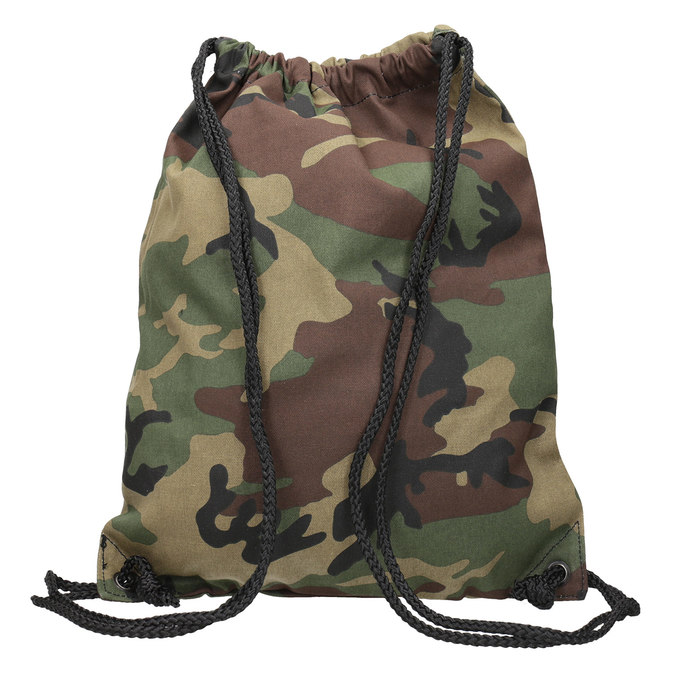 Plecak worek unisex wdeseń moro vans, brązowy, 969-3058 - 16