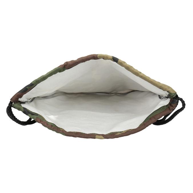 Plecak worek unisex wdeseń moro vans, brązowy, 969-3058 - 15