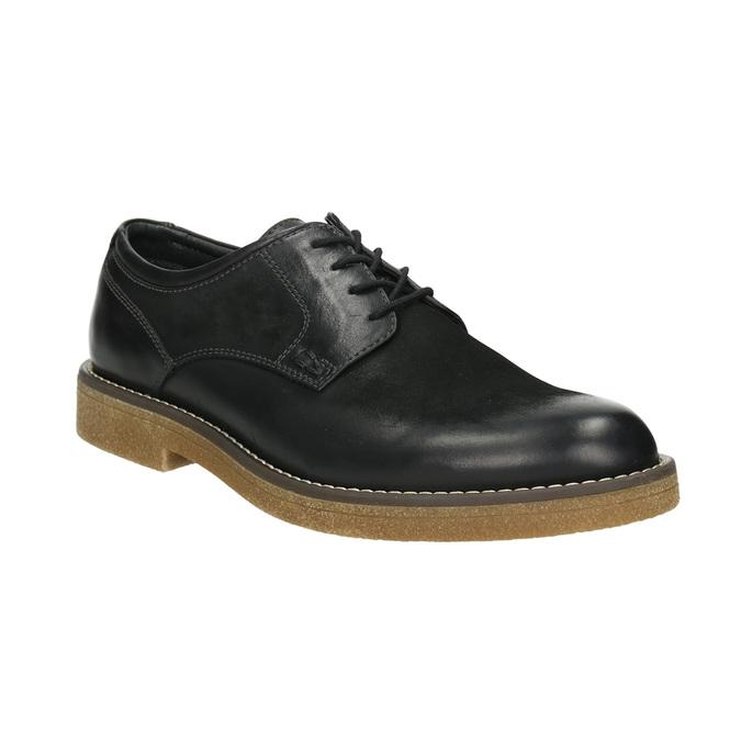 Skórzane półbuty męskie angielki bata, czarny, 826-6620 - 13