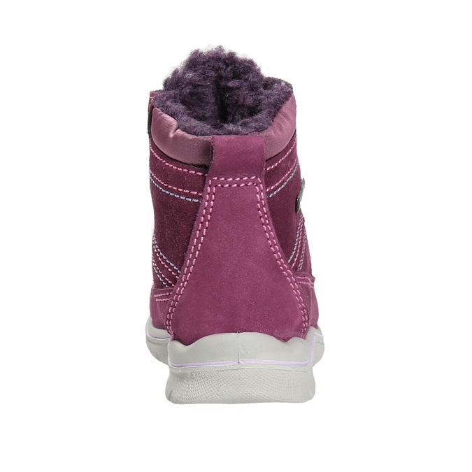 Dziecięce zimowe buty ze skóry bubblegummer, fioletowy, 196-5600 - 17