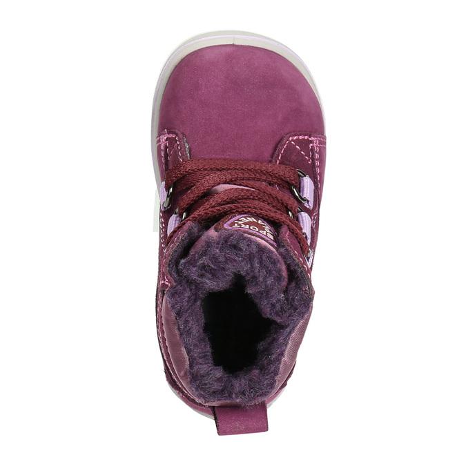 Dziecięce zimowe buty ze skóry bubblegummer, fioletowy, 196-5600 - 26