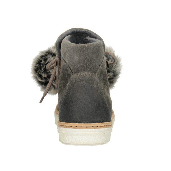 Zimowe sznurowane buty damskie weinbrenner, szary, 596-2674 - 16