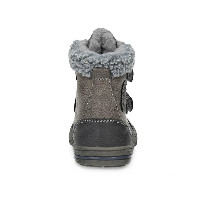 Zimowe buty dziecięce zociepliną bubblegummer, szary, 191-4619 - 15