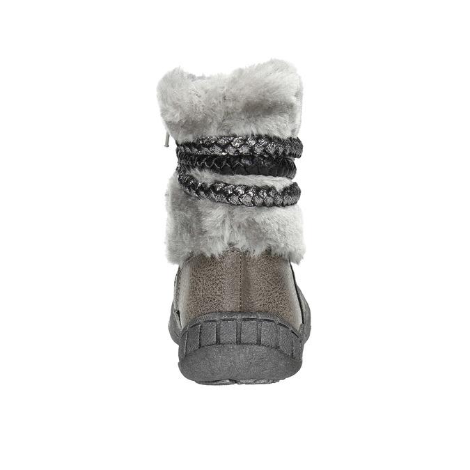 Zimowe buty dziecięce zfuterkiem bubblegummer, szary, 191-2620 - 17