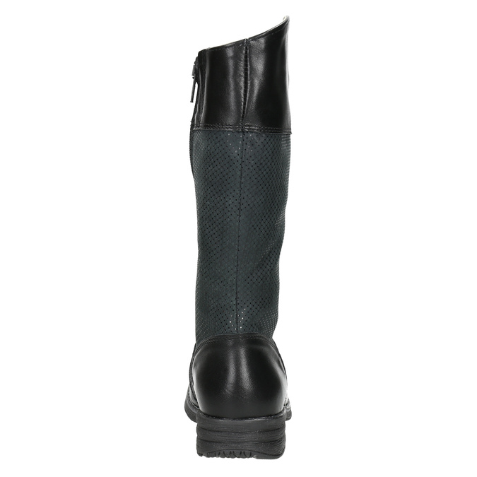 Kozaki dziecięce zociepliną bata, czarny, 394-6195 - 17