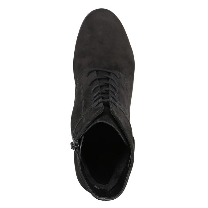 Sznurowane buty ze skóry za kostkę gabor, czarny, 726-6120 - 15