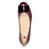 Skórzane baleriny damskie hogl, czerwony, 528-5072 - 15