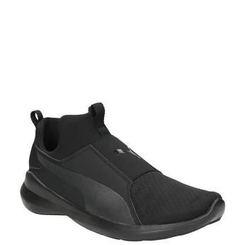 Czarne trampki damskie bez sznurówek puma, czarny, 509-6200 - 13