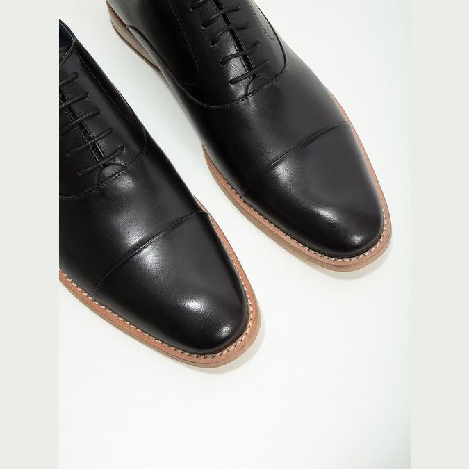 Półbuty typu oksfordy, wykonane wcałości ze skóry bata, czarny, 824-6414 - 14