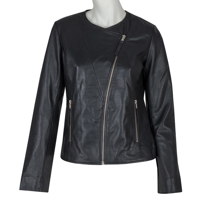 Skórzana kurtka damska bata, czarny, 974-6177 - 13