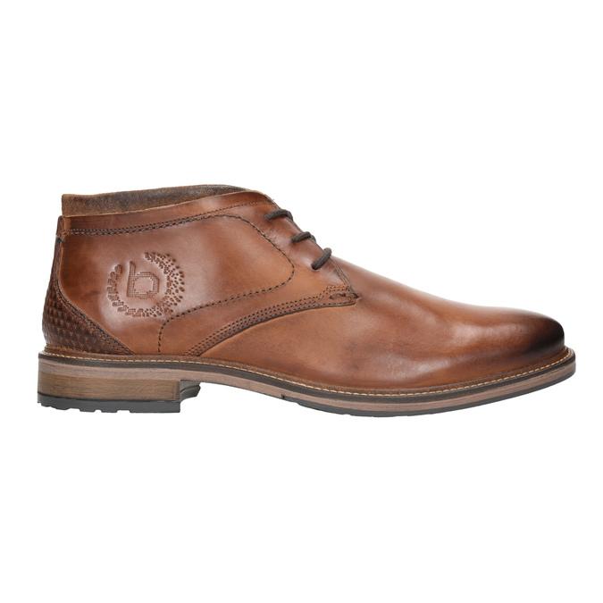 Skórzane buty męskie za kostkę bugatti, brązowy, 826-3005 - 26