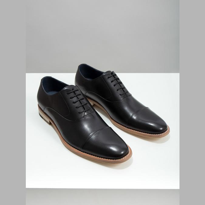 Półbuty typu oksfordy, wykonane wcałości ze skóry bata, czarny, 824-6414 - 18