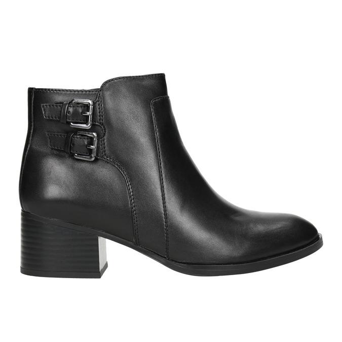 Skórzane botki bata, czarny, 696-6650 - 15