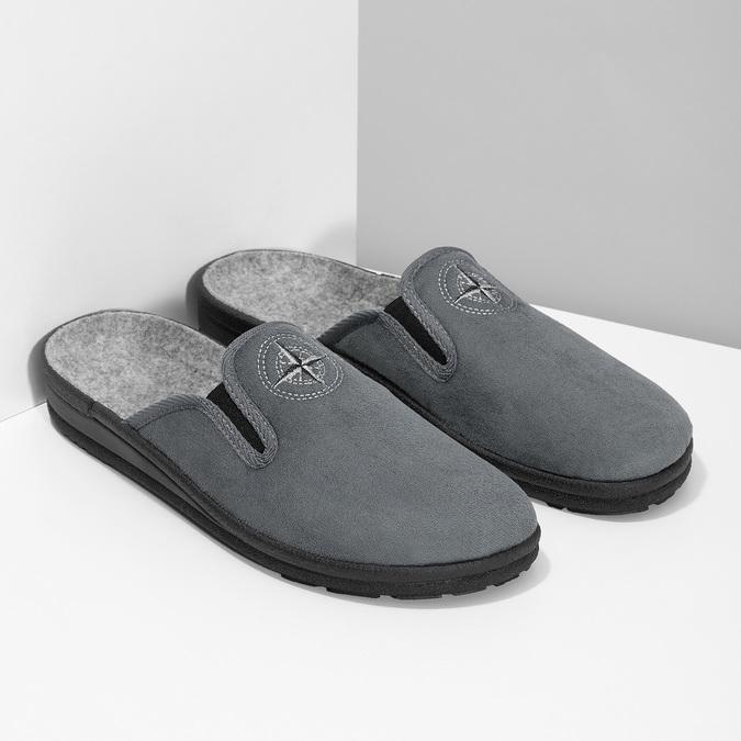 Kapcie męskie bata, szary, 879-2610 - 26