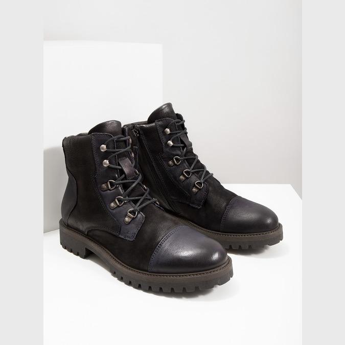Buty męskie za kostkę bata, czarny, 896-6664 - 14
