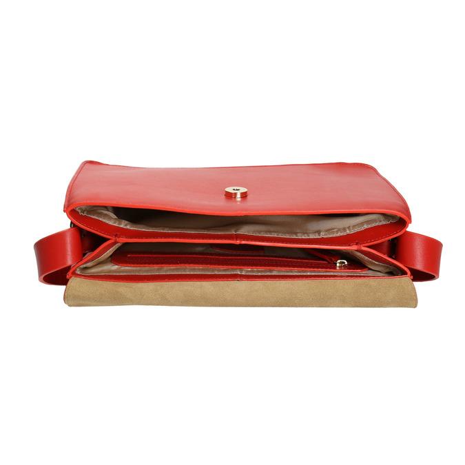 Czerwona skórzana torba vagabond, czerwony, 964-5086 - 15
