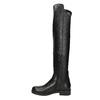 Skórzane kozaki damskie za kolana bata, czarny, 596-6682 - 15