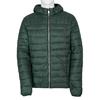 Pikowana kurtka męska zkapturem bata, zielony, 979-7143 - 13