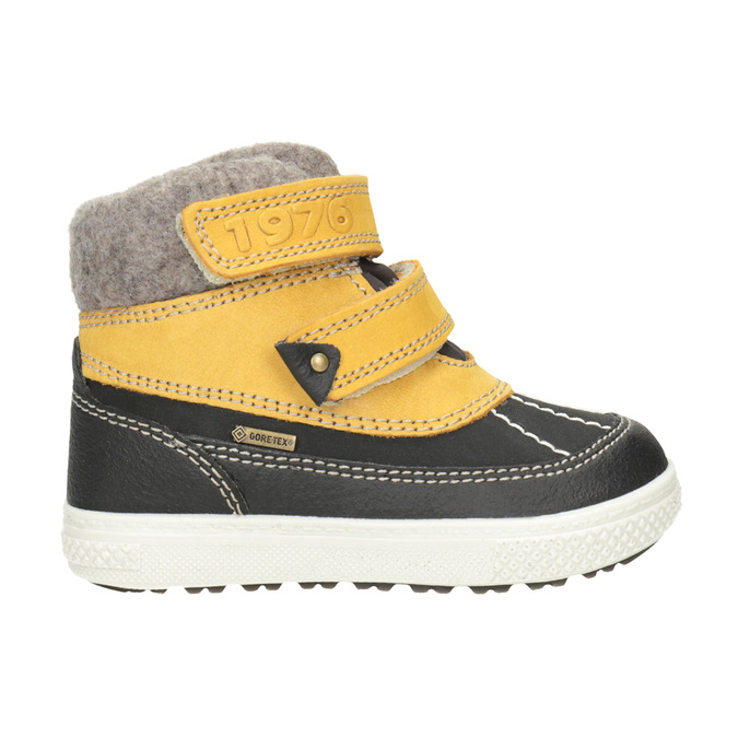 Zimowe skórzane buty dziecięce primigi, żółty, 196-8006 - 26