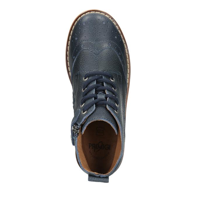 Skórzane obuwie dziecięce za kostkę primigi, niebieski, 314-9004 - 15