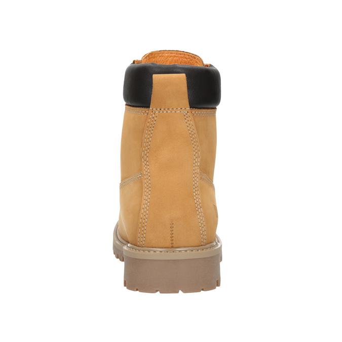 Skórzane buty za kostkę na grubej podeszwie weinbrenner, brązowy, 596-4664 - 16
