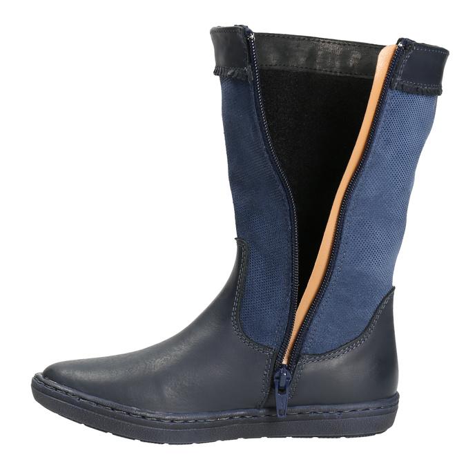 Granatowe kozaki dziewczęce bata, niebieski, 394-9196 - 26