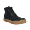 Skórzane buty męskie za kostkę bata, niebieski, 843-9631 - 13