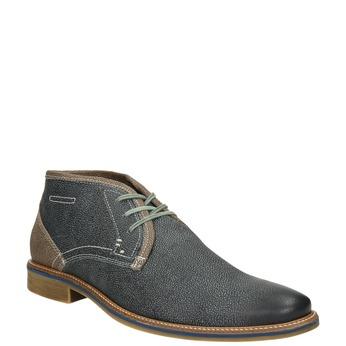 Skórzane buty męskie za kostkę bata, niebieski, 826-9920 - 13