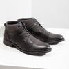 Skórzane buty za kostkę, zfakturą bata, szary, 826-2616 - 18