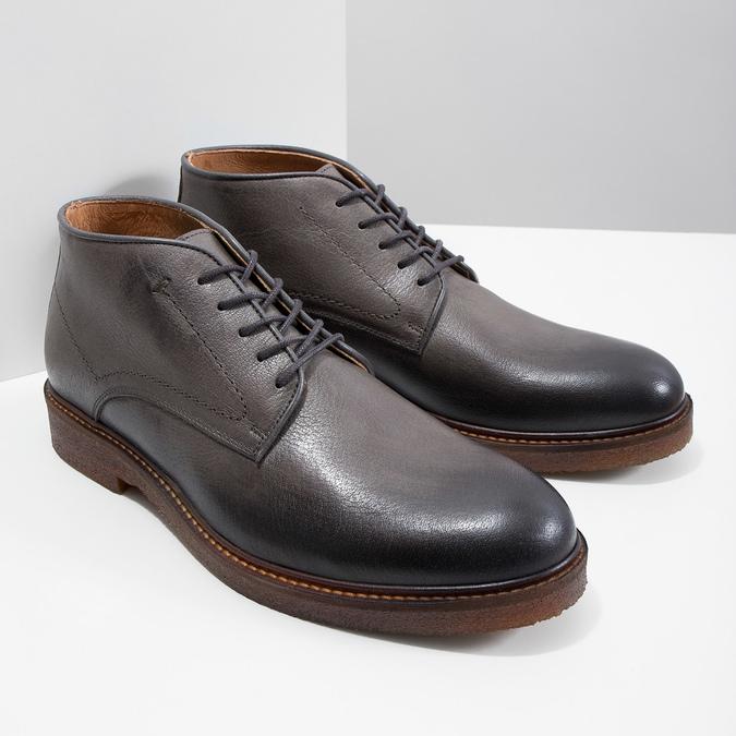 Skórzane obuwie typu chukka bata, szary, 826-3919 - 18
