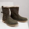 Zimowe buty damskie zfuterkiem weinbrenner, khaki, 594-2455 - 14
