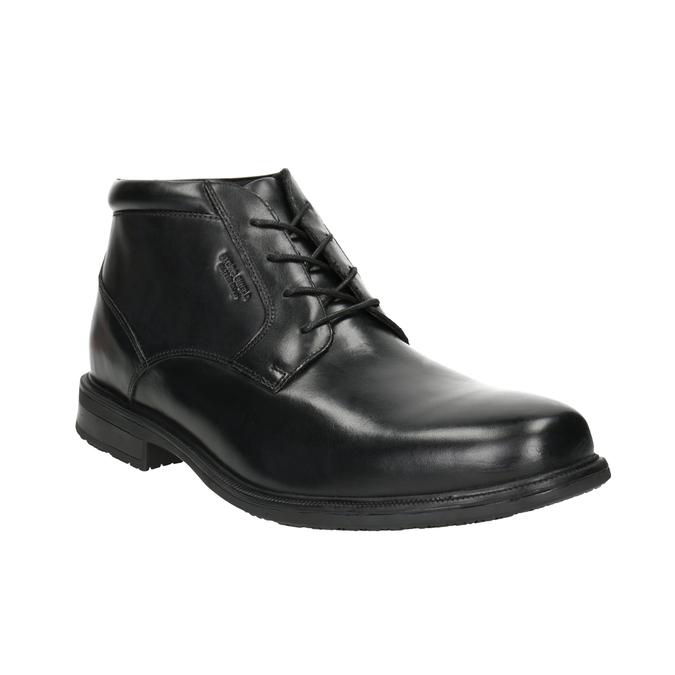 Skórzane obuwie za kostkę rockport, czarny, 894-6036 - 13