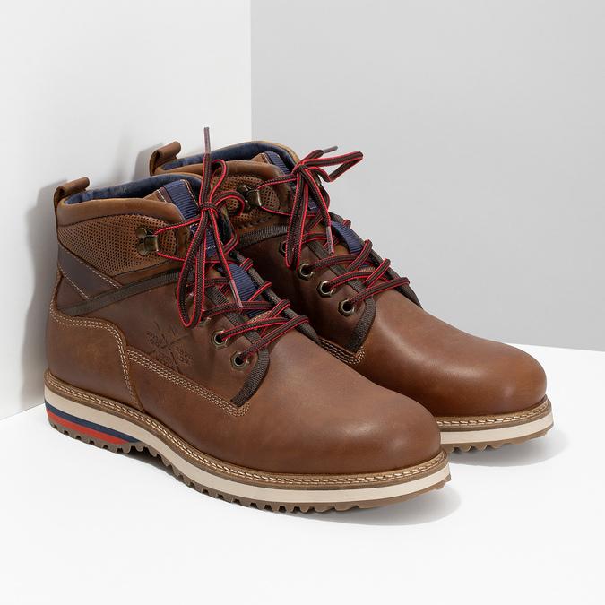 Zimowe obuwie męskie za kostkę bata, brązowy, 896-3677 - 26