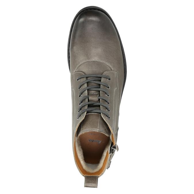Męskie buty ombré za kostkę bata, szary, 896-2684 - 26