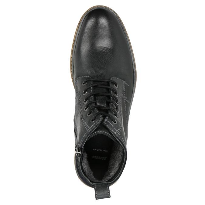 Skórzane buty zimowe za kostkę bata, czarny, 896-6685 - 26