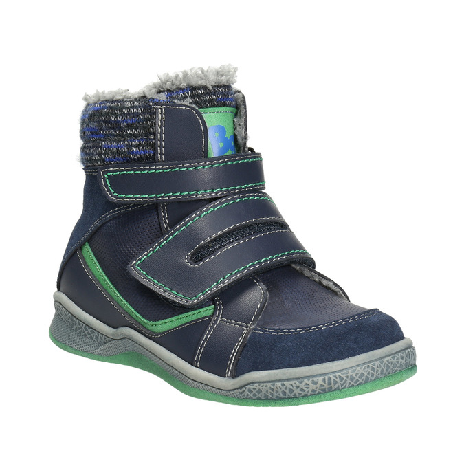 Zimowe buty dziecięce zociepliną bubblegummer, niebieski, 114-9611 - 13