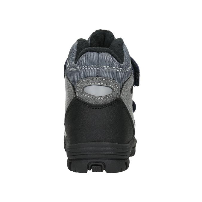 Zimowe buty dziecięce na rzepy mini-b, szary, 291-2626 - 17