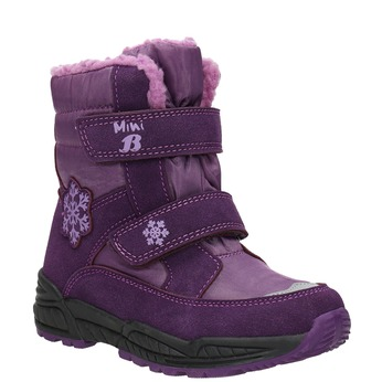 Fioletowe śniegowce dziewczęce mini-b, fioletowy, 291-9625 - 13